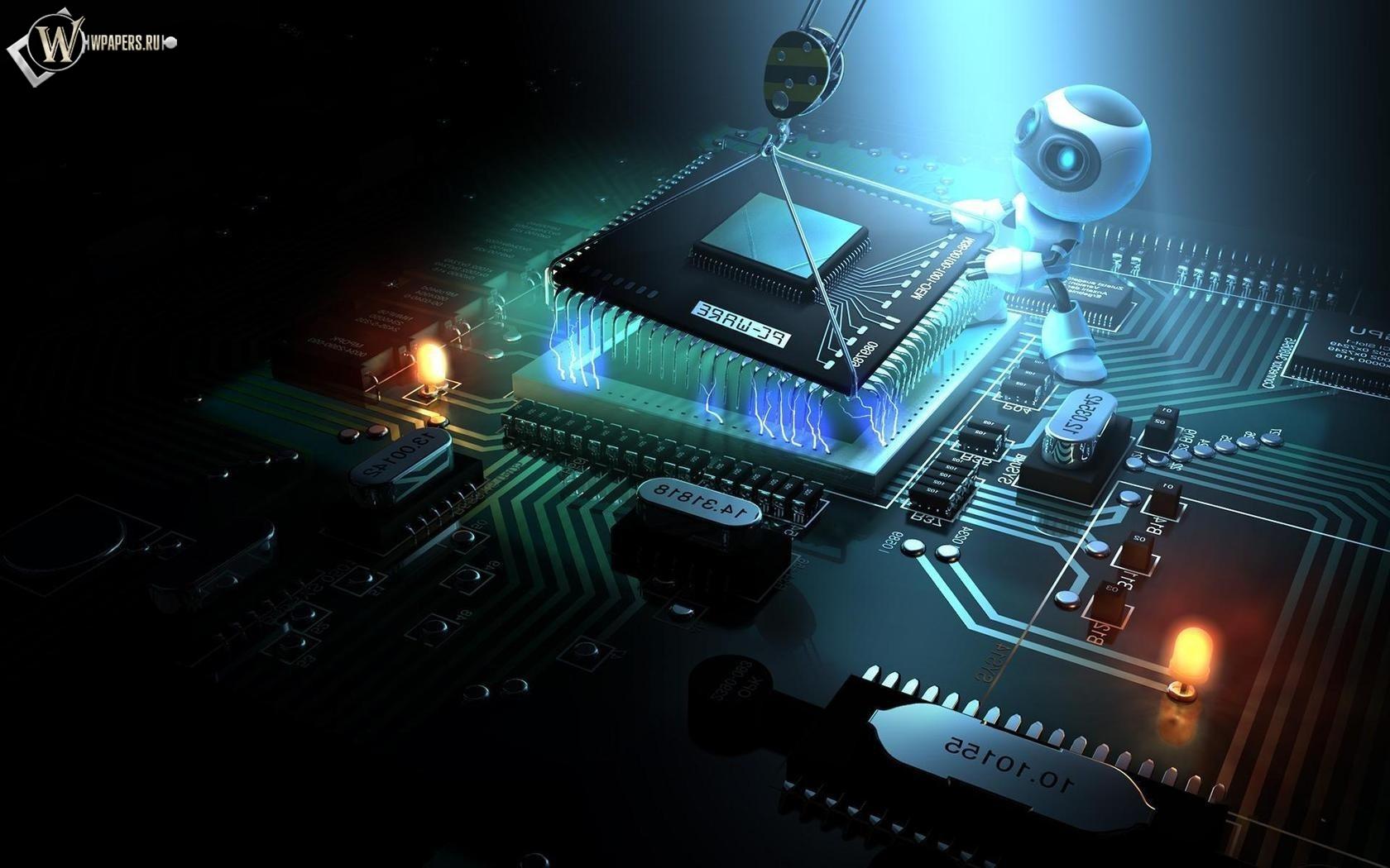Установка процессора роботом 1680x1050