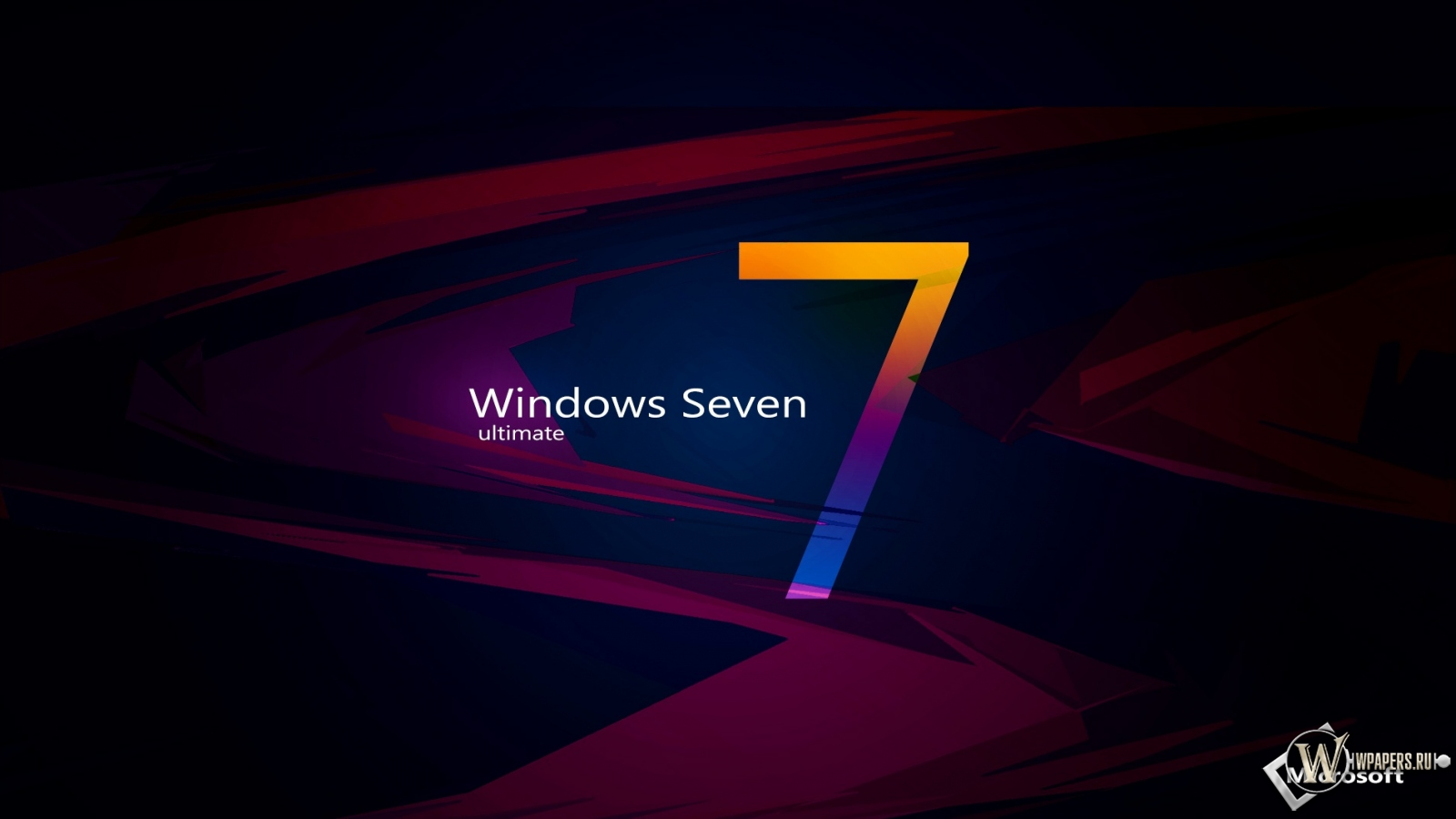 Windows Seven abstract 1600x900