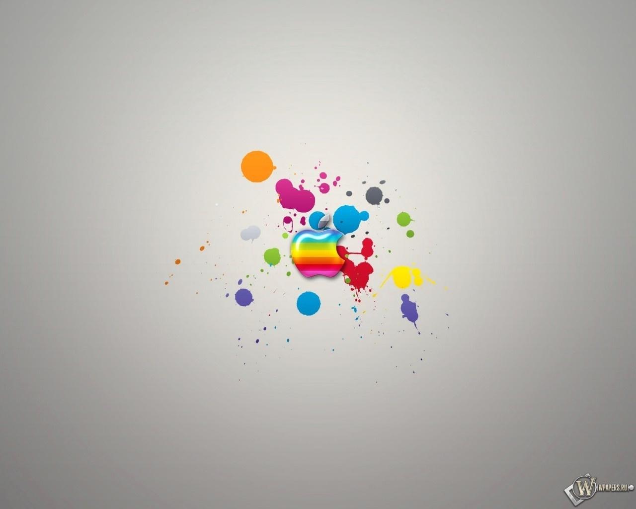 Радужный Apple 1280x1024