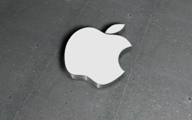 Apple на бетоне