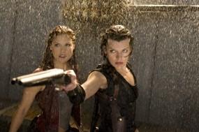 Обои Обитель зла: Дождь, Обитель зла, Милла Йовович, Обрез, Milla Jovovich, Resident Evil, Ужасы