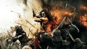Обои Конан-варвар: Меч, Бой, Конан-варвар, Фильмы