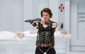 Обои Обитель зла: Обитель зла, Milla Jovovich, Ужасы