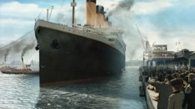 Обои Титаник отплывает: Корабль, Фильм, Титаник, Фильмы