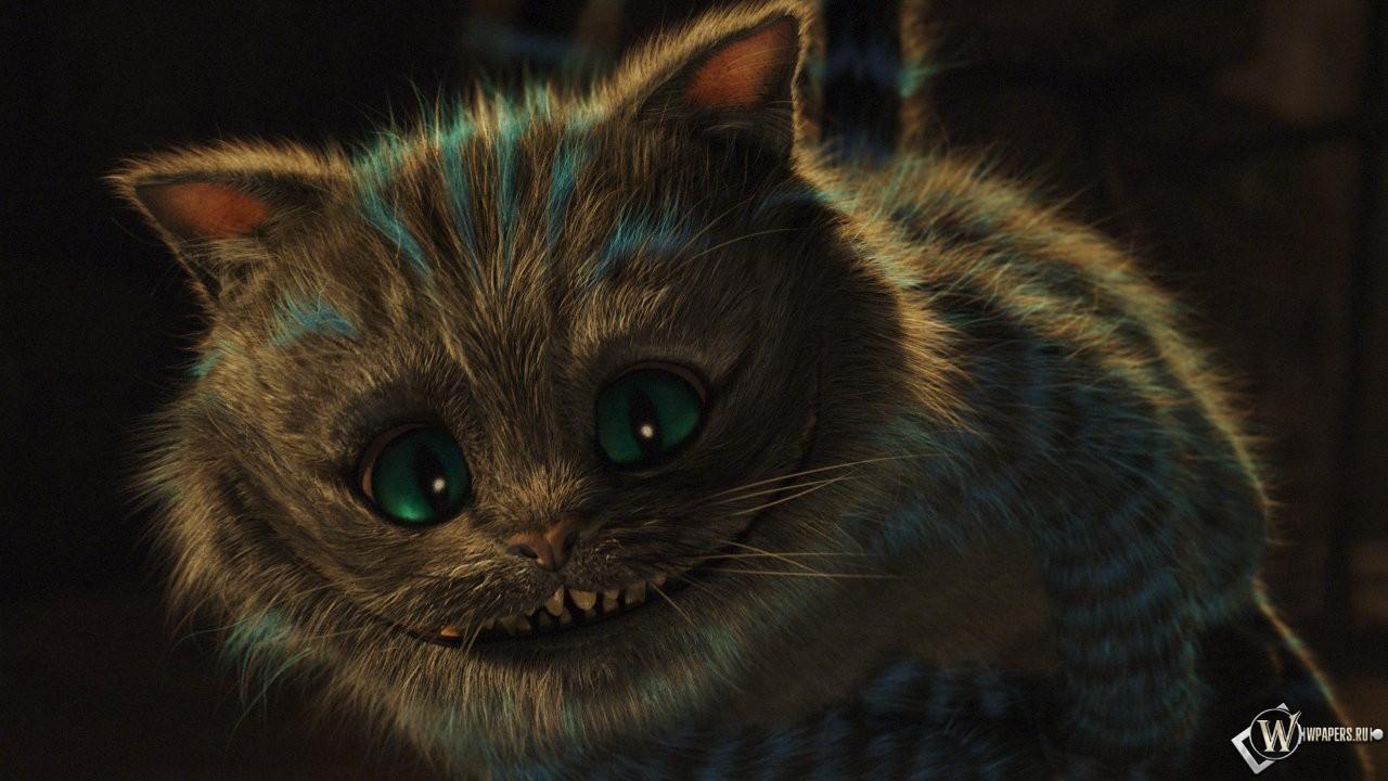 Кот из фильма Алиса в Стране чудес 1280x720