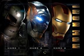 Обои Три брони Железного-человека: Железный человек, Костюм, Броня, Фильмы