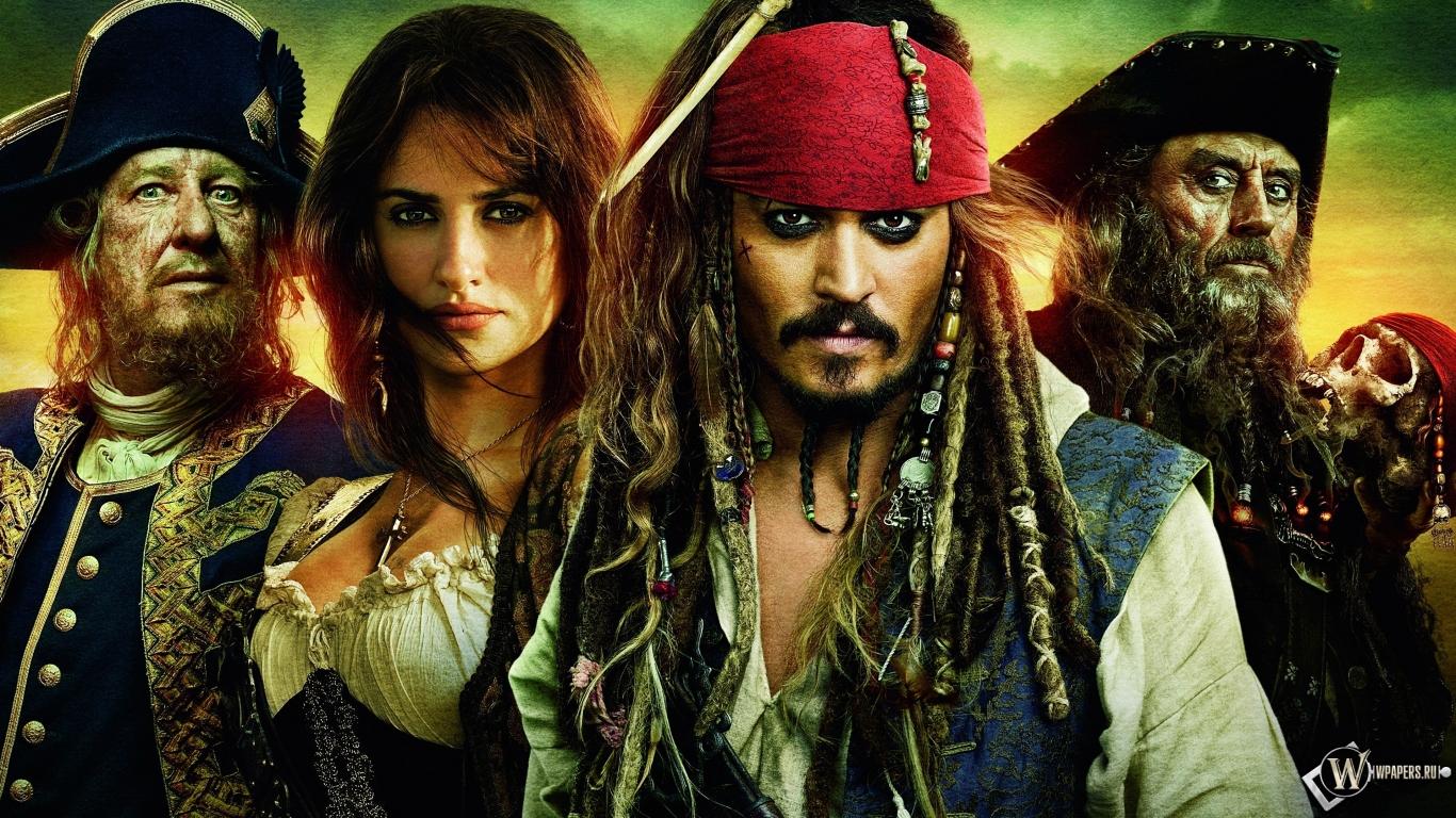 Пираты Карибского моря 1366x768