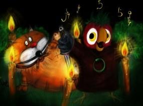 Обои Попугай Кеша: Свечи, Юмор, Мультфильм, Кеша, Мультфильмы