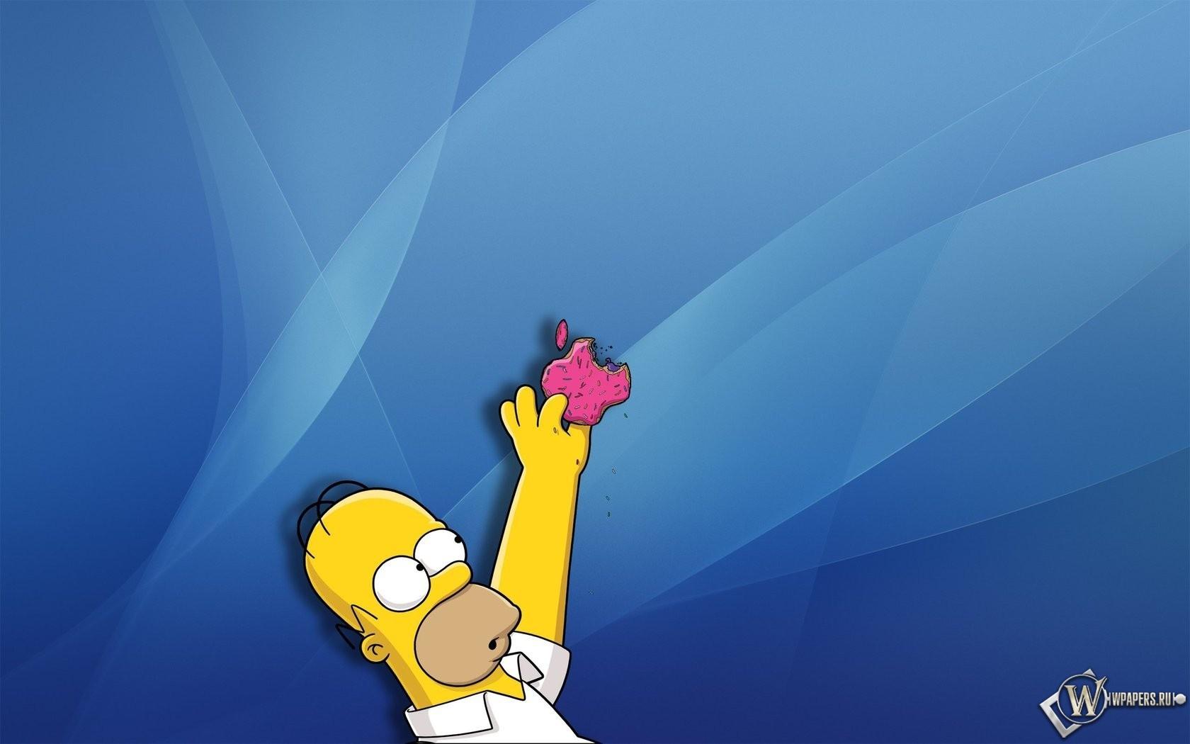 Apple и Гомер 1680x1050