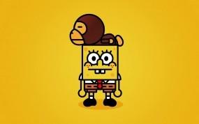 Обои Спанч-боб: Обезьяна, Спанч Боб, Spongebob, Мультфильмы