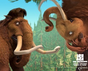 Обои Знакомство мамонтов: Ледниковый период, Мультфильмы
