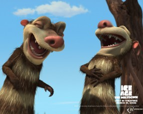 Обои Два опосума: Ледниковый период, Мультфильмы