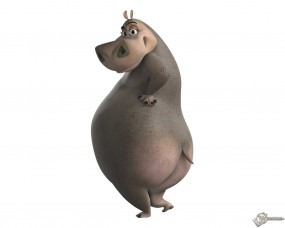 Обои Глория из мадагаскара: Бегемот, Мадагаскар, Мультфильмы