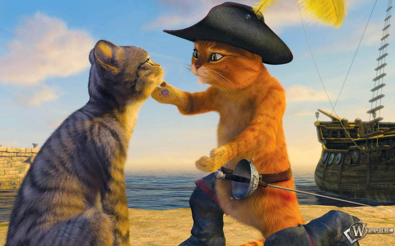 право кот в сапогах веселые картинки есть три