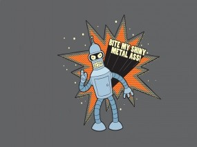 Обои бэндер: Робот, Футурама, Мультфильмы