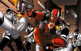 Обои DeadPool: Оружие, Драка, Дэдпул, Deadpool, Мультфильмы