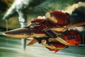 Обои Макросс: Самолёт, Робот, Макросс, Роботех, Мультфильмы
