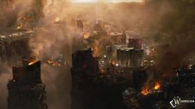 Обои 2012: Огонь, Город, Разрушения, 2012, Пожар, Катастрофа, 2012