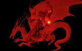 Обои Dragon age origins: Дракон, Красный, Dragon Age, Игры