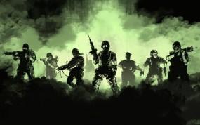 Обои Half Life Opposing Forse: Дым, Оружие, Солдаты, Half-Life, Отряд, Игры