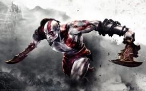Обои God of War 3: Оружие, God of War, Kratos, Игры