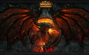 Обои World of Warcraft Cataclysm: Пламя, Дракон, World of Warcraft, Игры