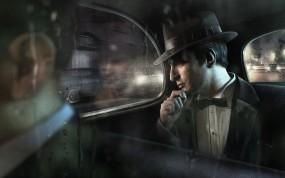 Обои Mafia II: Дождь, Игра, Мужчина, Mafia, Игры