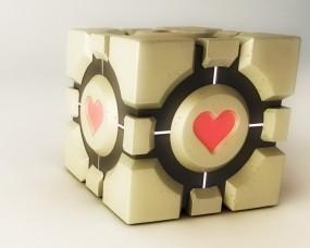 Обои Portal: Сердце, Кубик, portal, Игры