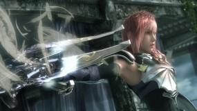 Обои Final Fantasy XIII: Девушка, Оружие, Final Fantasy, доспех, Игры