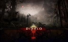 Обои Diablo 3: Ночь, Игра, Ворон, Diablo 3, Игры