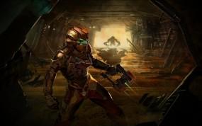 Обои Dead Space 2: Пистолет, Монстр, Dead Space 2, Игры
