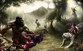 Обои World of Warcraft: Война, Игра, Орк, Эльфы, Игры