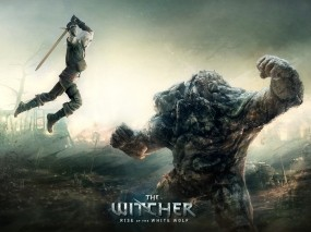 Обои The Witcher: Прыжок, Игра, The Witcher, Игры