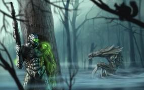 Обои Starcraft 2: Воин, Оружие, Игра, StarCraft, Болото, Игры