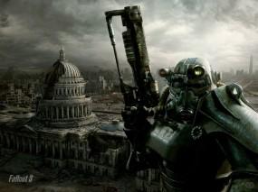 Обои Fallout 3: Город, Игра, Fallout 3, Fallout