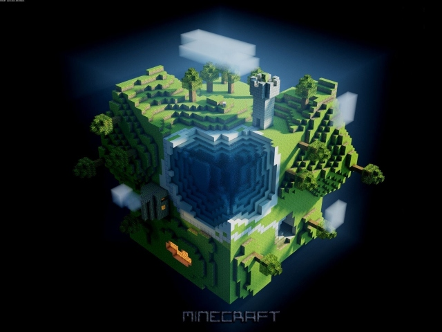 Квадратная плонета  Minecraft