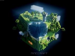 Обои Квадратная плонета  Minecraft: Игры, Minecraft, Игры