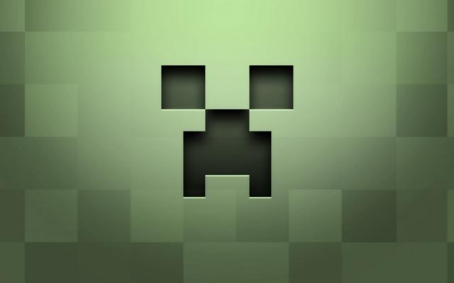 Лицо крипера Minecraft
