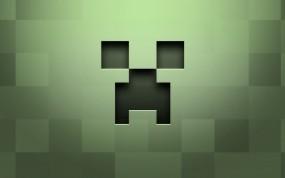Обои Лицо крипера Minecraft: Игры, Minecraft, Игры