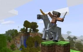 Обои Всадник на коне Minecraft: Игры, Minecraft, Игры