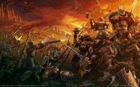 Обои Warhammer: Битва, Драконы, Warhammer, Mark of Chaos, Герои, Другие игры
