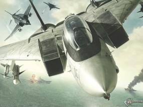 Обои Ace Combat: Эскадра, Преследование, Авианосец, Ace Combat