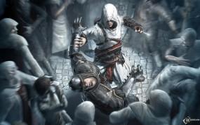 Обои Assassin протыкает шею: , Assassins creed