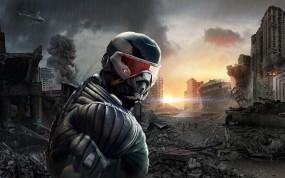 Обои Crysis: Солнце, Crysis, Солдат, Crysis