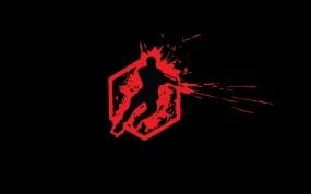 Обои Crysis Wars: Кровь, Минимализм, Игра, Crysis