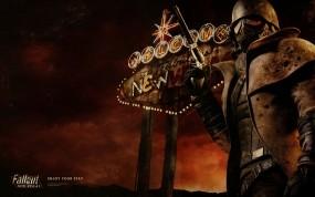 Обои Fallout New Vegas: Огни, Неон, Fallout, Игры