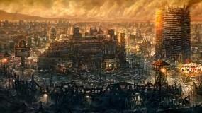 Обои Fallout New Vegas: Город, Развалины, Игра, Fallout new vegas, Игры