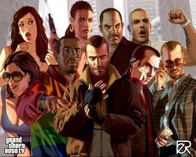 Обои GTA 4: Герои, GTA 4, Гангстеры, GTA