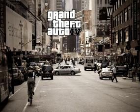 Обои GTA 4: Город, Движение, GTA 4, GTA