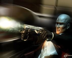 Обои Хитмен палит из пистолетов: Стрельба, Пистолеты, Hitman, Hitman